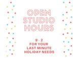 Open Studio - DIY Wednesday -  Dec 20