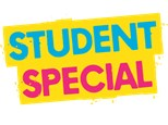 STARVING STUDENT - 10% OFF every Wednesday