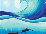 Adult Canvas - Dolphin Wave - 06.28.19