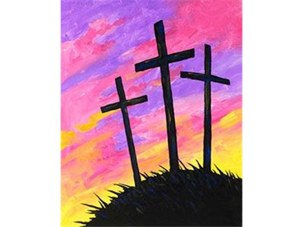 Adult Canvas - Easter Sunrise Silhouette - Evening - 04.10.20