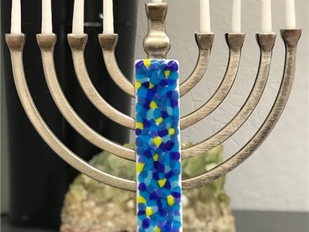 Fused Glass Menorah Class for Kids 12/3 4pm