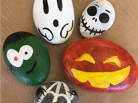 Family Rock Painting - Halloween! - 10.29.17