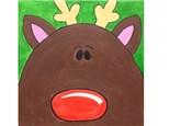Kids' Canvas Class!  Reindeer!  11/19/16