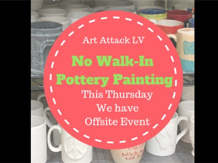 NO Walk-In Pottery this Thursday