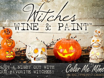 Oct 24th • Witches Wine and Paint • Color Me Mine Aurora