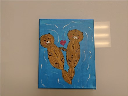 I Love You Like No Otter Mommy & Me Canvas Class $40 (age 4 and up)