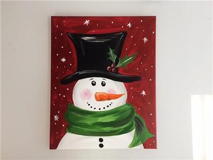 Snowy Snowman (Adult) Canvas Party