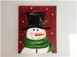 Snowy Snowman (Adult) Canvas Party