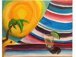 Come enjoy $4 Tequila Sunrises and $5 Margarita's as you paint this festive homage to Mexico's sandy beaches and colorful hand-woven fabrics, just in time for CINCO DE MAYO!