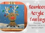 Reindeer Acrylic Painting Class