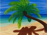 Canvas & Wine Night!  Palm Tree Getaway! 3/6/17