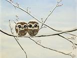 """Owl Babies"" Canvas Class, January 5th"