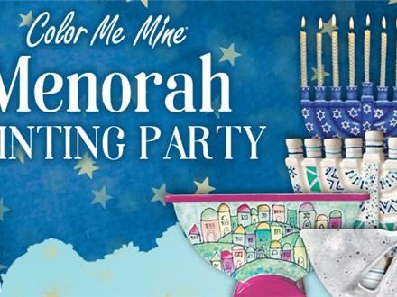 Menorah Painting Party 2020: Thursday, November 19th 4:00 - 7:00PM