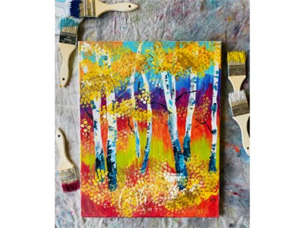 Fall Trees Paint Class
