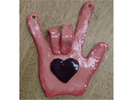 Kid's Clay Hand Building - Love Hand - 02.01.17 - Morning Session