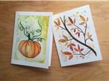 Autumn Card Set- Watercolor Class (10/20)