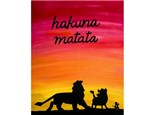 """Hakuna Matata"" Canvas Class, March 14th"