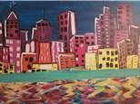 Paint Your Own Canvas Pack - City Scape