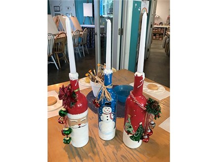 **NEW** Holiday Candle Wine Bottle Paint Night! 12/15/17