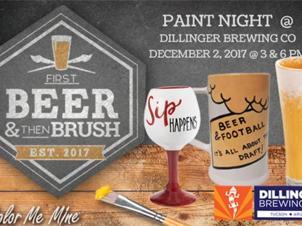 Paint Night @ Dillinger Brewing Co: December 2, 2017 @ 6pm