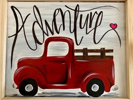 Vintage Truck Canvas