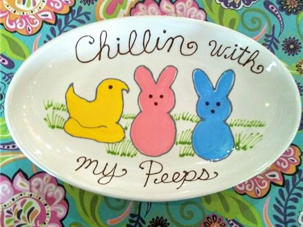 Easter Peeps Platter - Ceramics Class