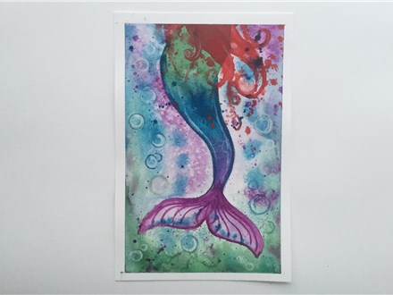 Mythical Mermaid (ages 13+) Watercolor Class