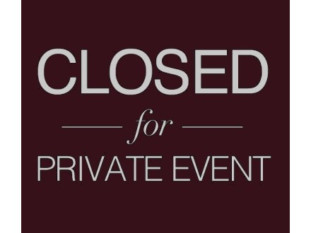 Private Event - (No Class, Oct. 29)