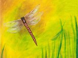 "Canvas Night ""Dragonfly"""