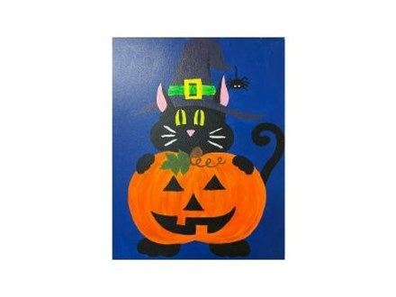 Halloween Canvas Painting- Kids Pop-Up