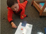"""1st grader playing """"Making Pathways: Number Patterns""""©, which helps reinforce patterns that occur by adding 10."""
