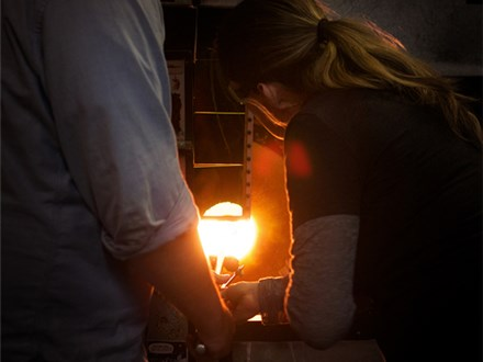 glassblowing at glassybaby madrona 12/28