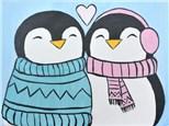 Penguin Love at The Art Garage