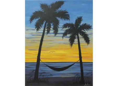 Palmetto Sunset - Singles Version (16x20 canvas)