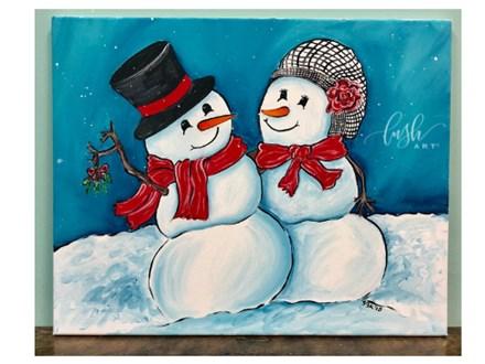 Snowman Couple Paint Class