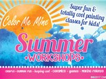 Summer Camp: Round Whimsical Flower Platter: Wednesday, August 7th 10:00AM-12:30PM
