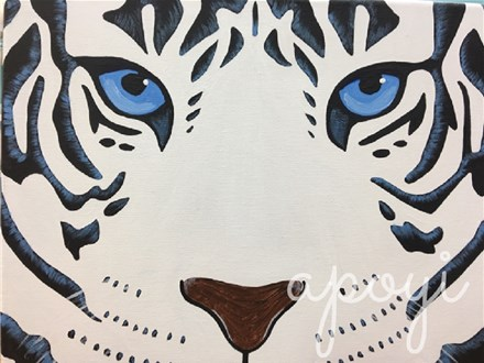 White Tiger Canvas Painting Event