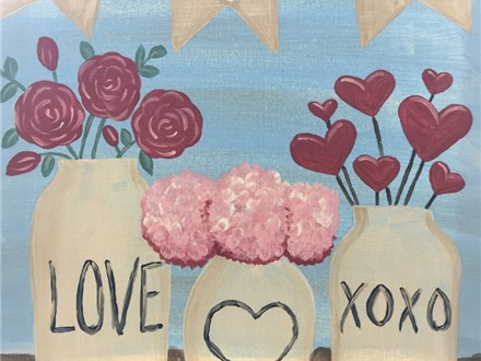 Rustic Valentines Canvas Painting Event
