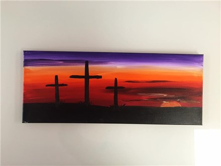 Easter Sunset (adult) Canvas Class