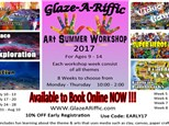 Art Summer Workshop at Glaze-A-Riffic Week 4 - 7/31 - Aug 3