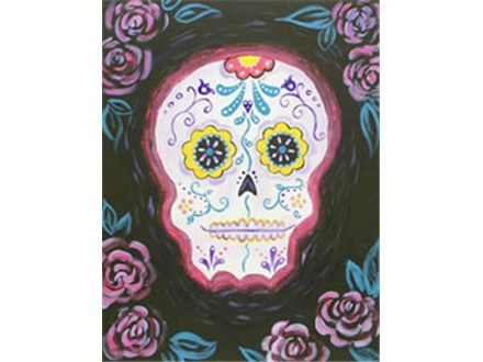"Canvas Night, ""Sugar Skull,"" Oct. 3rd 7-10pm"